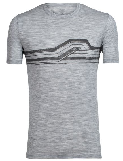 Men's Tech Lite SS Crewe Seismic Stripe herre T shirt