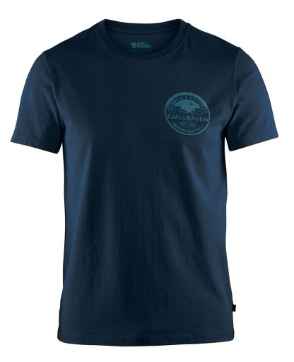 0a5eaf9d530 Fjällräven - Forever Nature Badge T-shirt Men herre-T-shirt - Navy