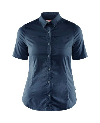 7c44f7d389e Fjällräven - High Coast Stretch Shirt SS Women dameskjorte - Navy