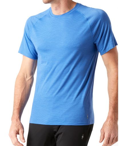 82403af1 Smartwool - Merino 150 Baselayer Pattern Short Sleeve Men herreundertrøje -  Bright Cobalt