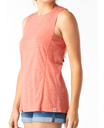 011469fe Smartwool - Merino Sport 150 Tank Women dametop - Light Habanero Heather