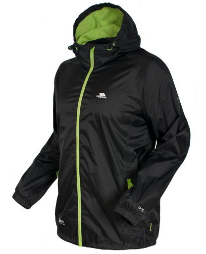 b60844ff Trespass - Qikpac Jacket regnjakke - Black/Leaf