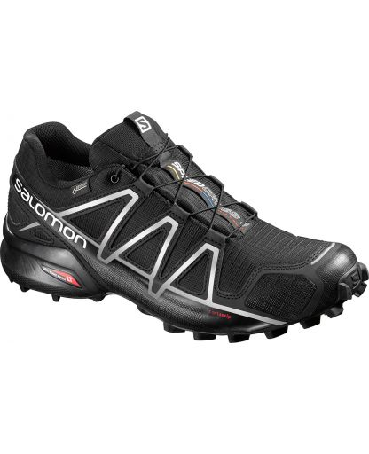 3371d405540 Salomon - Speedcross 4 GTX herresko - Black/Black/Silver Metallic-X