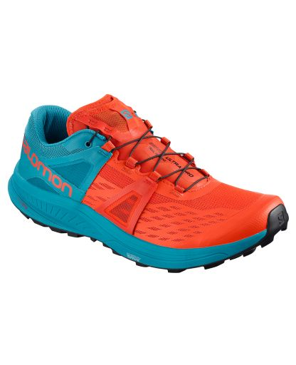 29ba99b8a956 Salomon - Ultra Pro Men herresko - Cherry Tomato Fjord Blue Black