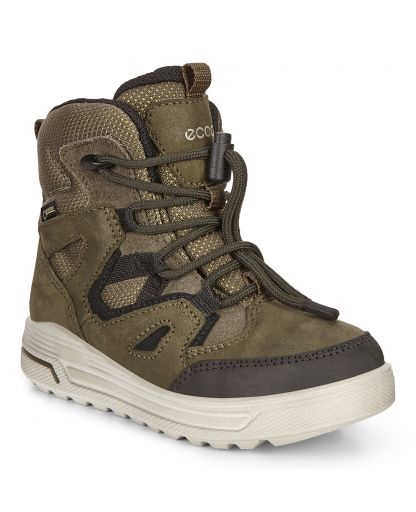 67829134218 ECCO - Urban Snowboarder GTX str. 36-40 børnestøvler - Black/Grape Leaf