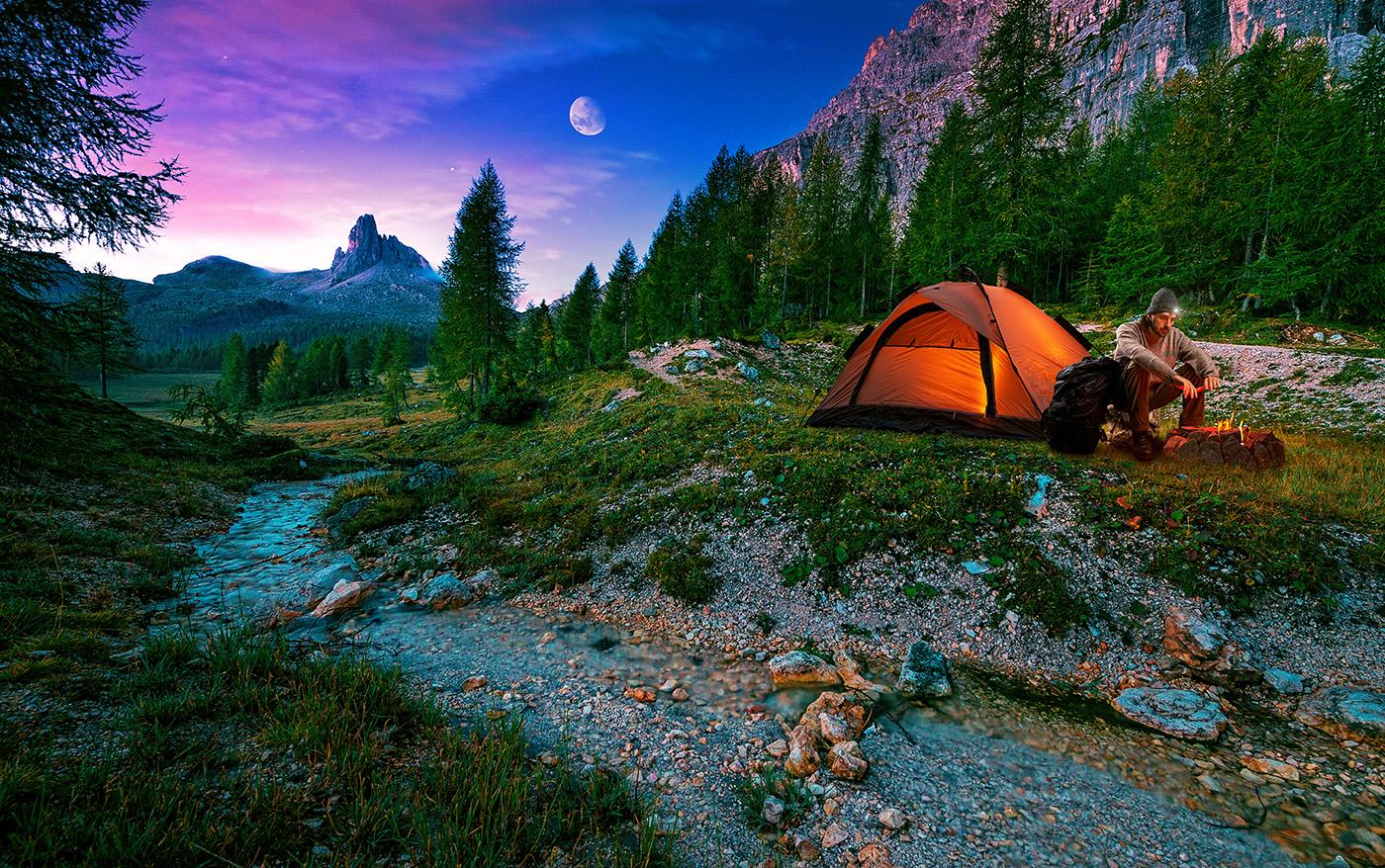 3 typer telte til turen