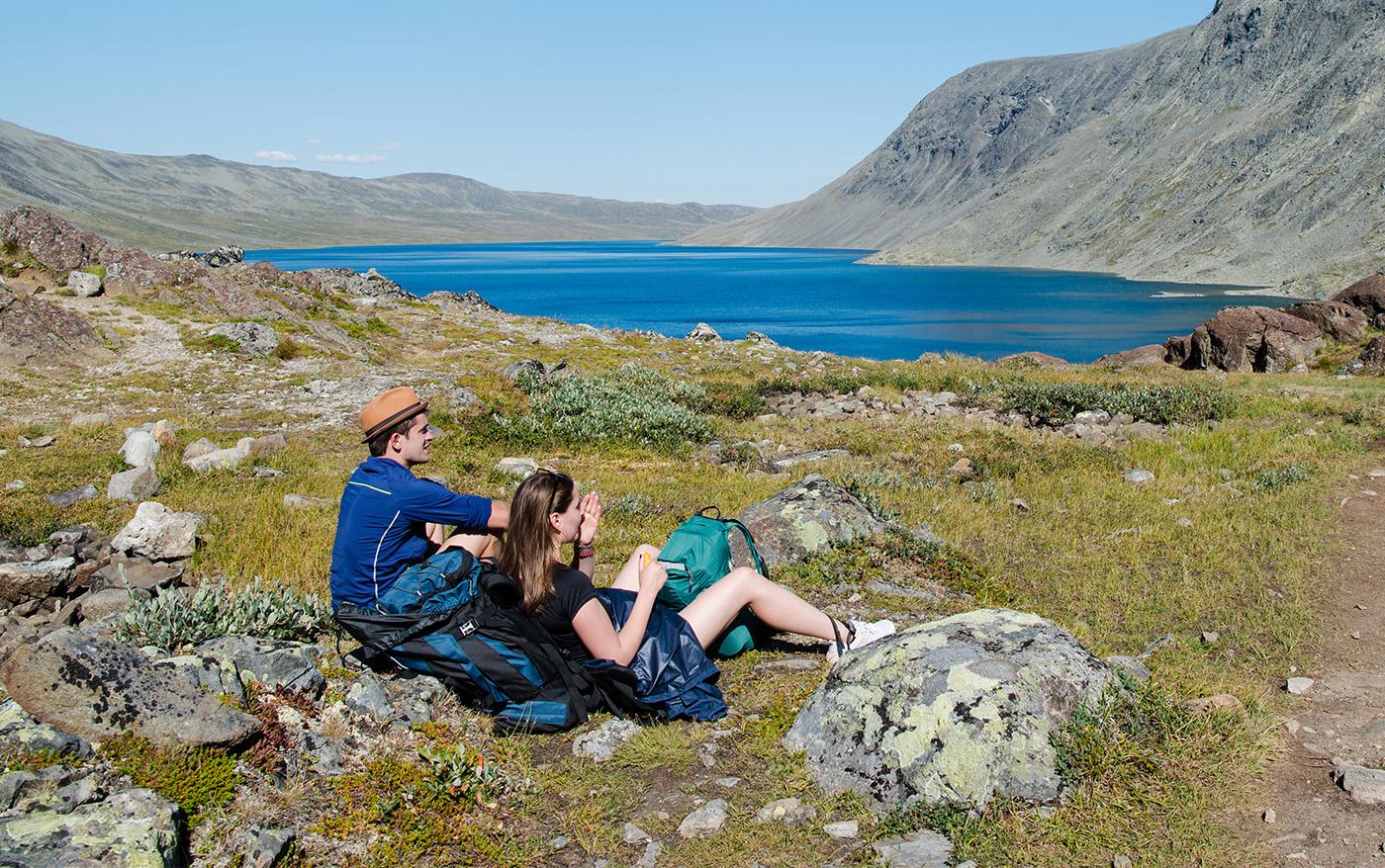 4 vandreture mellem hytter i Norge
