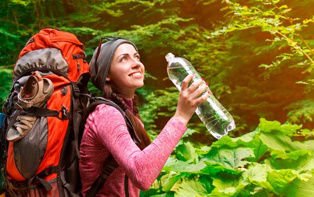 Rent vand på vandreturen og rejsen