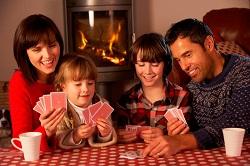 kortspil med børn