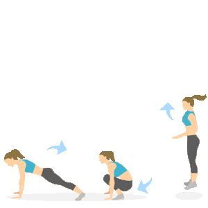 Gode træningsøvelser til løbere - burbee