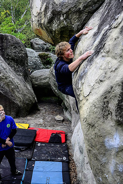 Bouldering i Fontainebleau