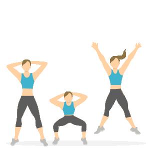 Gode træningsøvelser til løbere - jumping squats