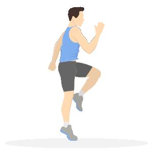Gode træningsøvelser til løbere - high knee