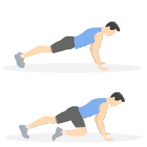 Gode træningsøvelser til løbere - mountain climbers