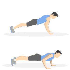 Gode træningsøvelser til løbere - push ups
