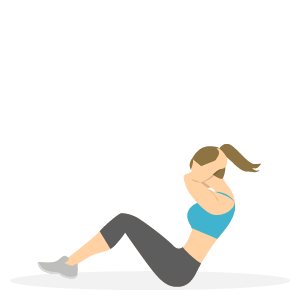 Gode træningsøvelser til løbere - mavebøjninger