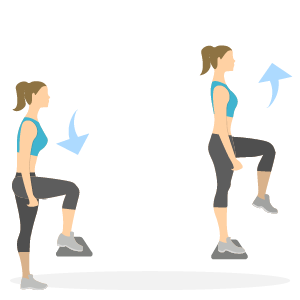 Gode træningsøvelser til løbere - step ups