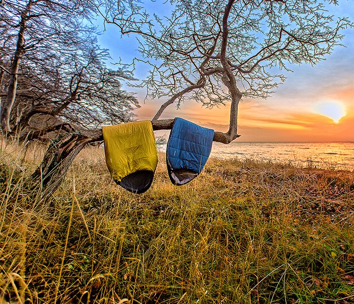 to soveposer hænger på gren